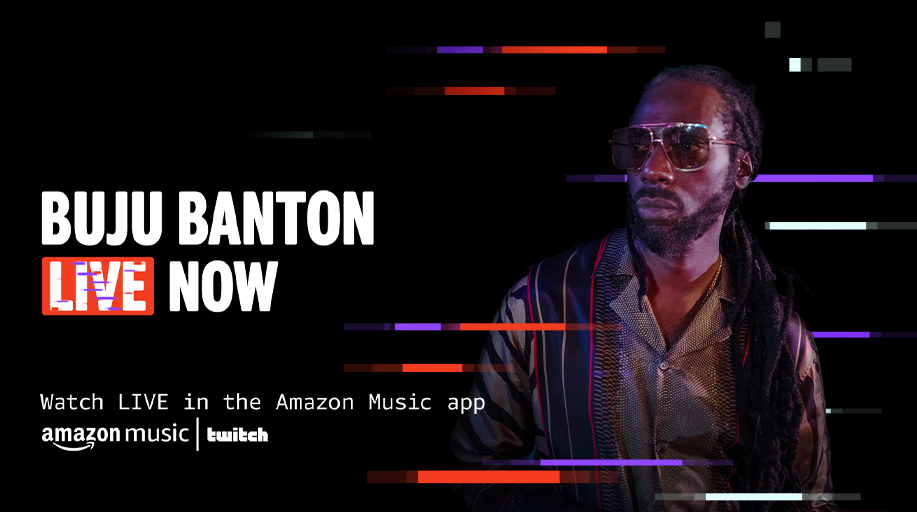 LIVE NOW — @bujubanton is performing his songs straight from Jamaica 🇯🇲🎶  Watch in the Amazon Music app ➡️ https://t.co/FxrYqepOzl https://t.co/DNxu9Q3zvx