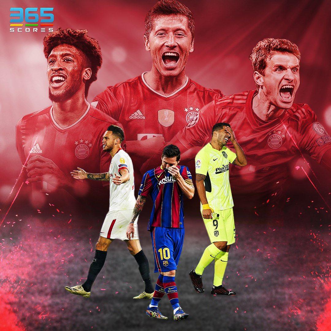 Bayern Munich demostrando que es el mejor equipo del mundo en la actualidad y dejando sin chances a los equipos españoles. Barcelona, Atlético de Madrid y Sevilla ya lo sufrieron. 14 goles a favor y solamente tres en contra. ¿Quién será la próxima víctima? https://t.co/uFDlJlsgbr