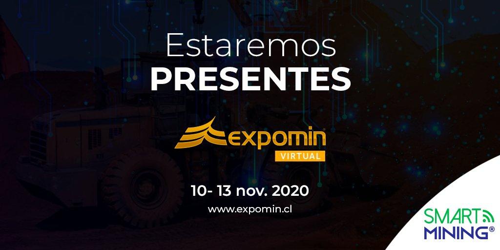 Smart Mining estará presente y será parte de @ExpominOFICIAL la mayor feria minera de Latinoamérica en su #FeriaVirtual #ExpominVirtual del 10 al 13 de noviembre de 2020. #Minería #energia #optimizacion #industrias #bigdata #analítica #tecnología #internetdelascosas #SmartMining https://t.co/bNgkJ1KCMi
