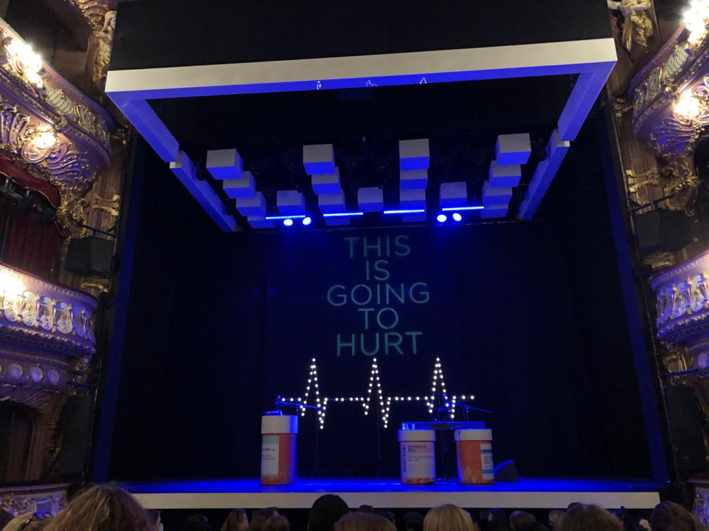 In truth having rushed from work I a little concerned tonight was going to be a busman's holiday, especially as I knew how @amateuradam's book ended.  Little did I know it was going to be a musical extravaganza & an #EmotionalRollerCoaster. Audience of #NHS staff #InItTogether https://t.co/lDYVgb7NtL