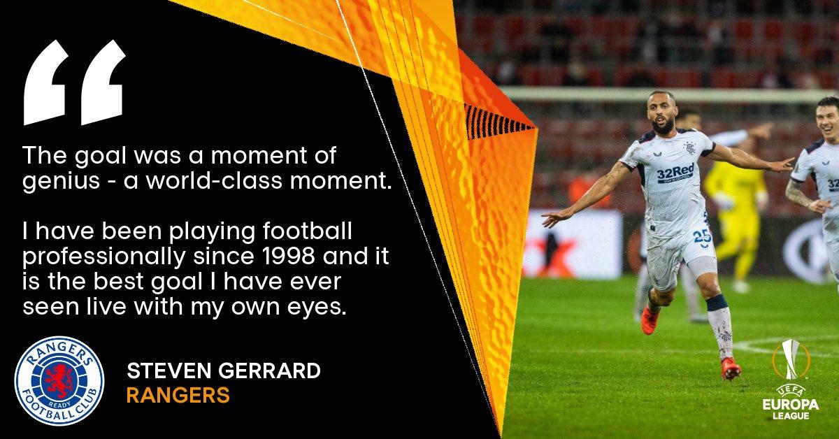 🗣️ Rangers manager Steven Gerrard on Kemar Roofe's special strike...   The best goal you've seen since ________   #UEL https://t.co/c8MCsuBdMu