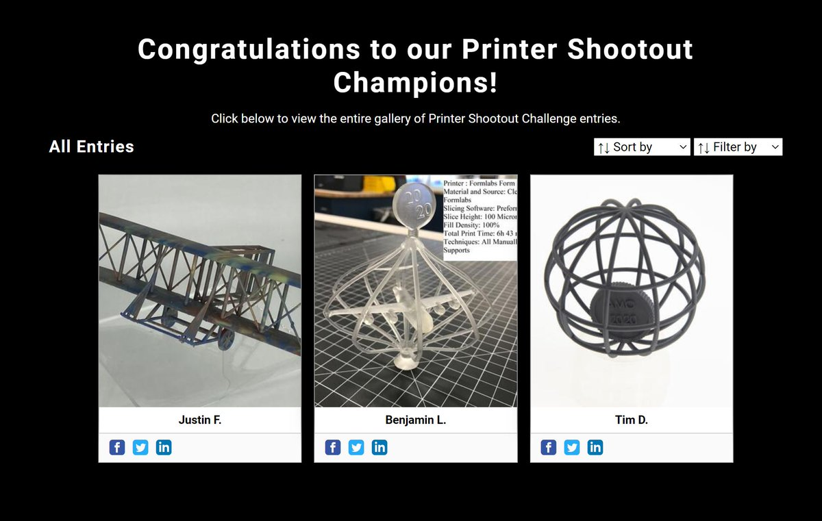 Congratulations to Benjamin L., @NavalAcademy MIDN 2021, for winning the #AMO2020 intermediate level printer shootout challenge! Awesome job! Go Navy! Thanks to @formlabs for the great capability and @3DPGirl for the encouragement! @airforcerso