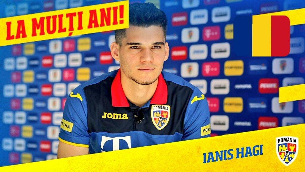 Happy Birthday, Ianis Hagi! ⚽ 💙💛❤️ 🎂 👏😎  RT @hai_romania  La Mulți Ani, @IanisHagi10 !  22 de ani! 🇷🇴 14 selecții   #HappyBday #Romania #IanisHagi https://t.co/hJifsz4noI