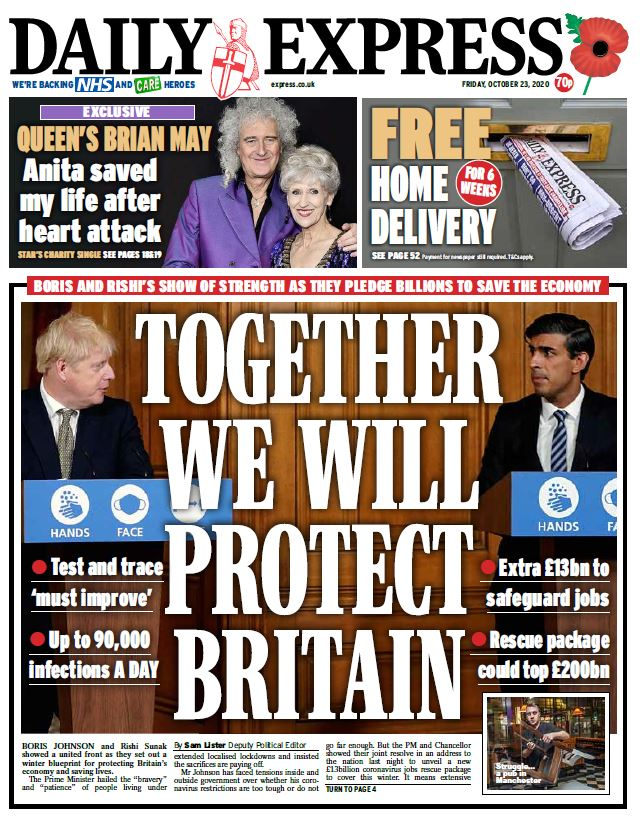 Friday's Express: 'Together we will protect Britain' #TomorrowsPapersToday #BBCPapers