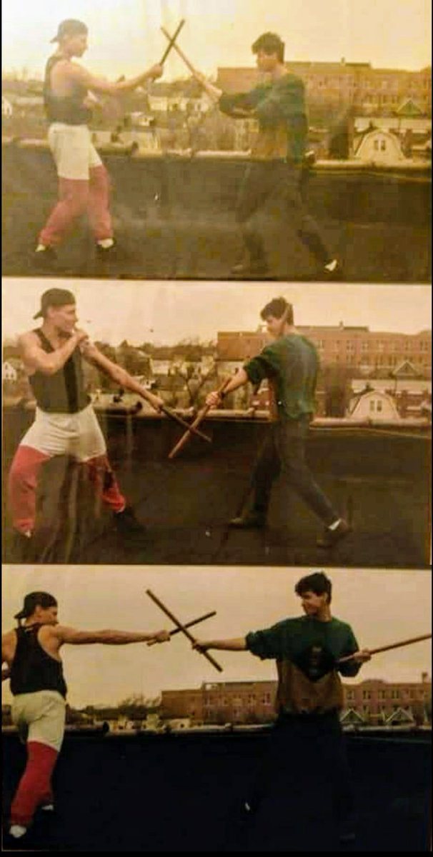 Cousin Dragon Lee & The Tiger Doing a Filipino Kali Stick Fighting Drill (High, Low, High. ) Roof Top Bronx, NY. #AnthonyTheTigerCruz #TeamRenzoGracie @Twitter https://t.co/R3OhtdoVzO