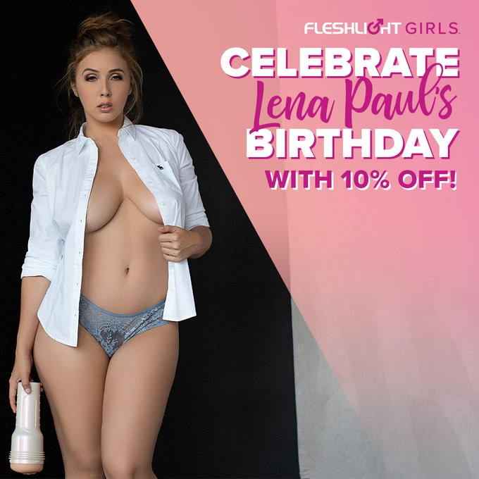 Celebrate Fleshlight Girl @lenaisapeach birthday ALL MONTH with 10% off her Fleshlight by using coupon