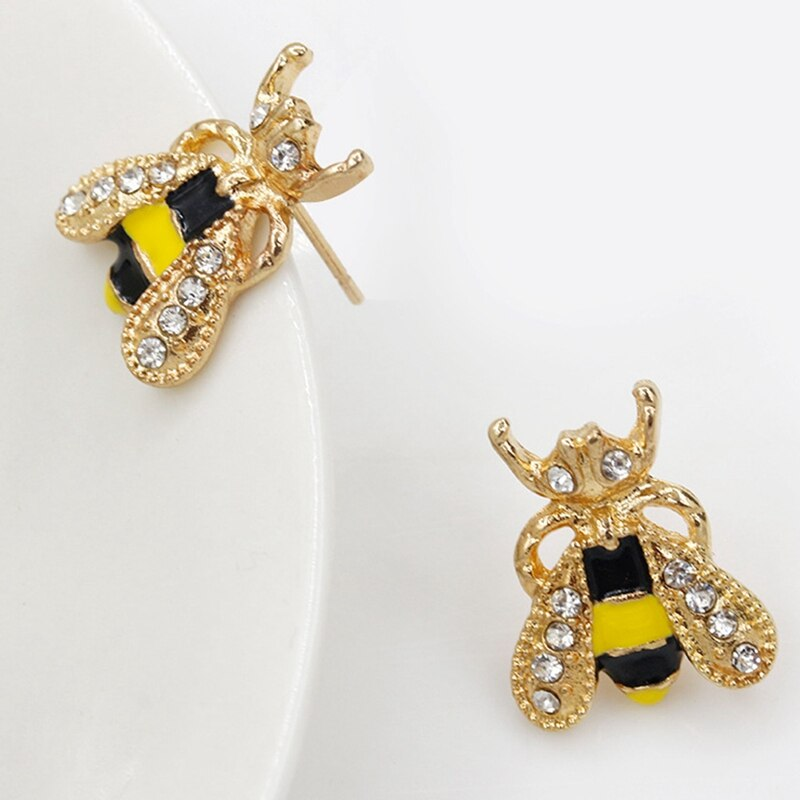 Rhinestone bumblebee earrings #bee #earrings #gift #earrings #earstuds    #gift #gifts #ring #rings #pendant #fashon #necklace #earrings #homedelivery #buyonline #christmas