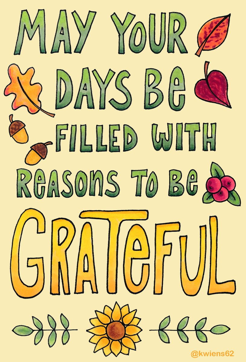 May your days be filled with reasons to be grateful. #DailyDoodle #Gratitude #Thanksgiving