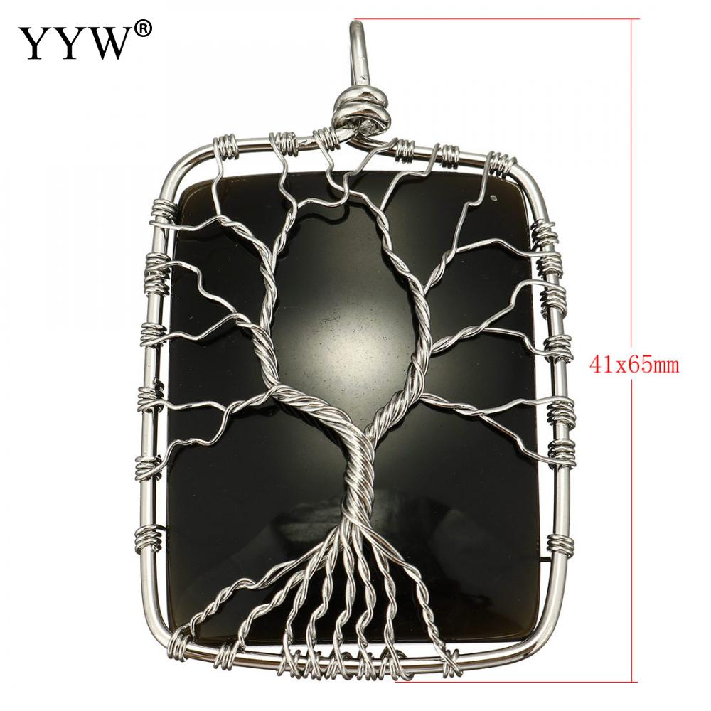 Obsidian tree of life wire wrap necklace   #gift #gifts #ring #rings #pendant #fashon #necklace #earrings #homedelivery #buyonline #christmas