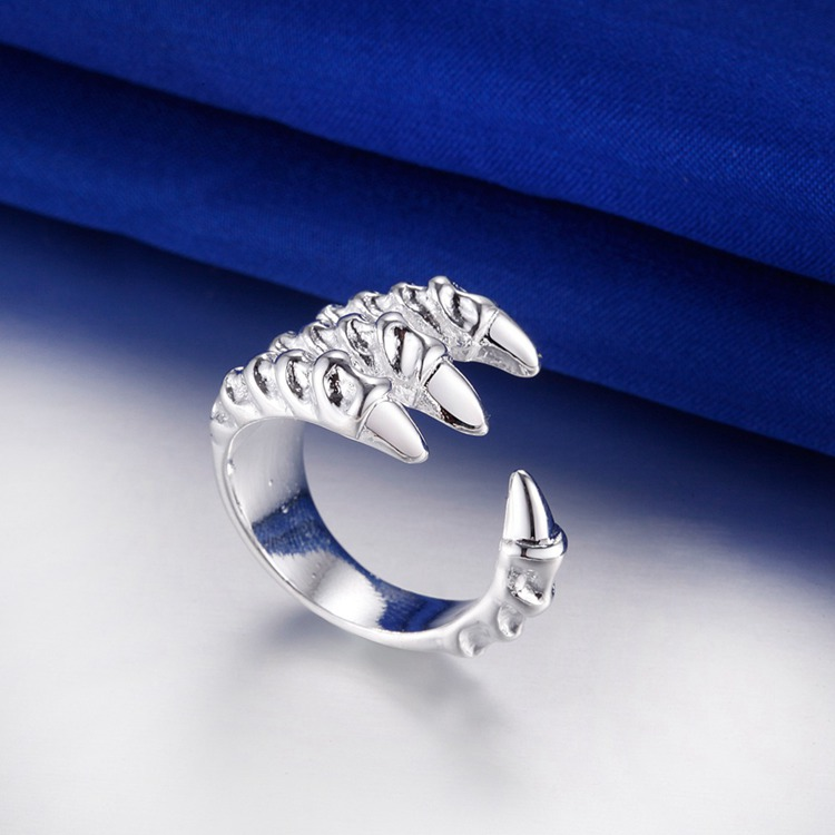 silver open claw dragon eagle ring  #gift #gifts #ring #rings #pendant #fashon #necklace #earrings #homedelivery #buyonline #christmas