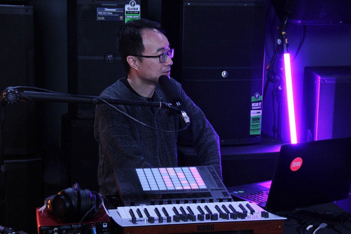 Ben takes the @CityMusicSG podcast through his live performance setup with #Ableton #AbletonPush #KorgMinilogue for #livejam #livebeats https://t.co/a0ALFm0V0P https://t.co/0kJiS5TIej