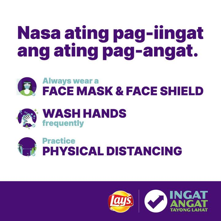 Together, we will rise up to a better tomorrow. #IngatAngat  Remember to wear your masks and face shields, wash your hands, and observe social distancing protocols.