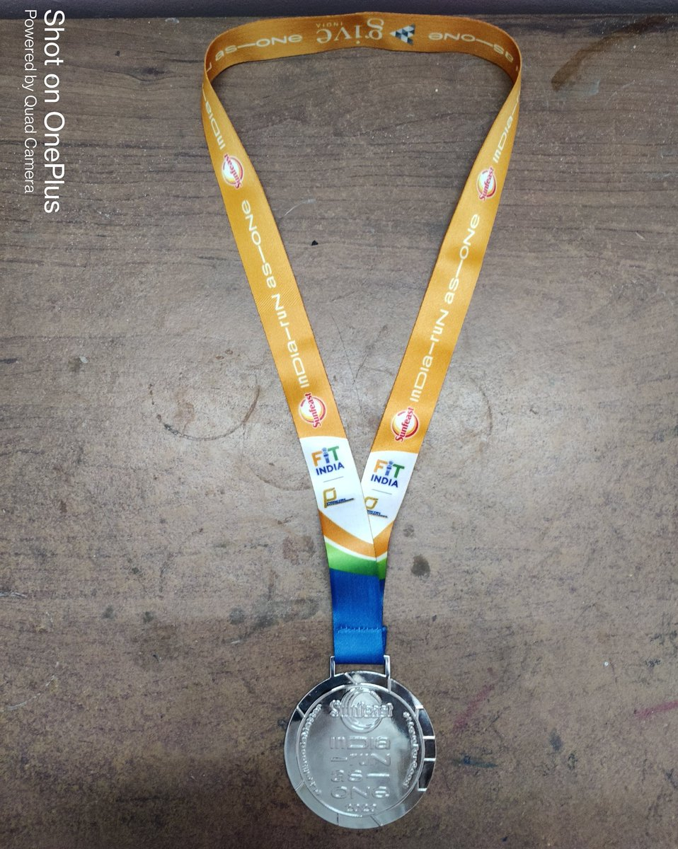 India Run as One. Run for a cause - Completed 25 kms #SunfeastIndiaRunAsOne  #FitIndia  #running