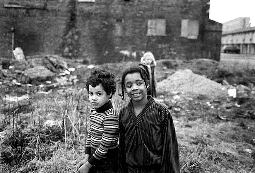 Children in Moss Side, Manchester, 1980. Photo © Duncan Westley.