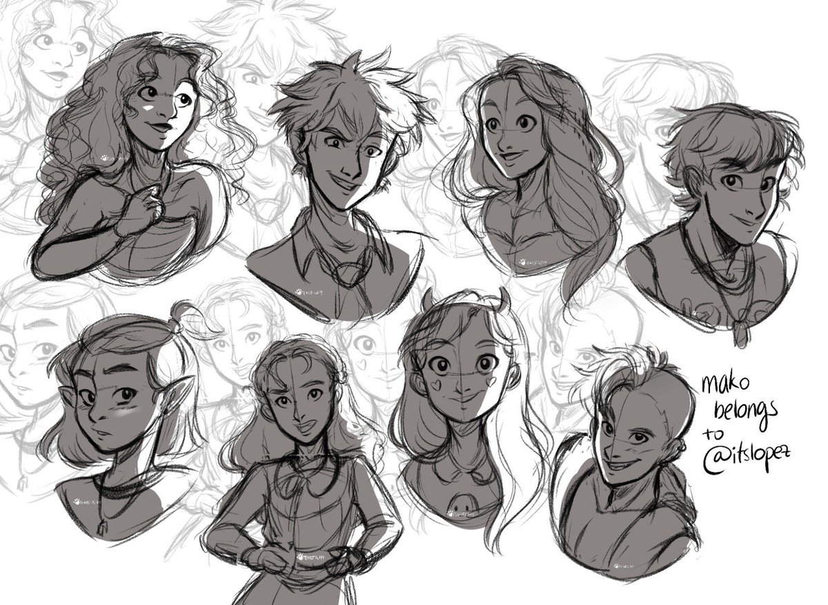 Today's warm up✨ Thank you all so much for your suggestions over on ig!  #sketch #visdev #fanart #disney #strawberrymoon #moana #bakugou #bokunoheroacademia #rapunzel #julieandthephantoms #theowlhouse #enolaholmes #starvstheforcesofevil https://t.co/MkT8MjJmAE