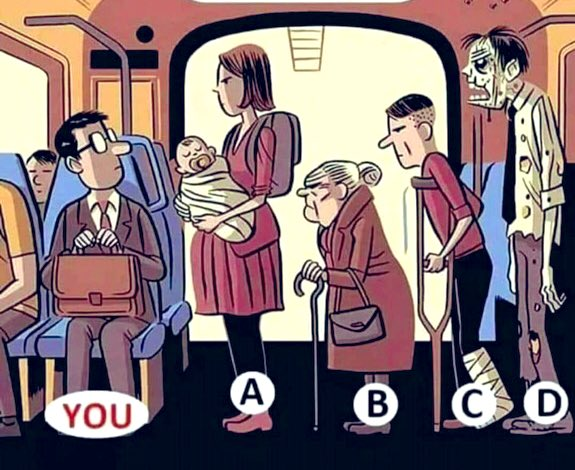 What will you do in this situation? You will provide this seat to whom? #EthicalDilemmama https://t.co/d44h1iU5wM