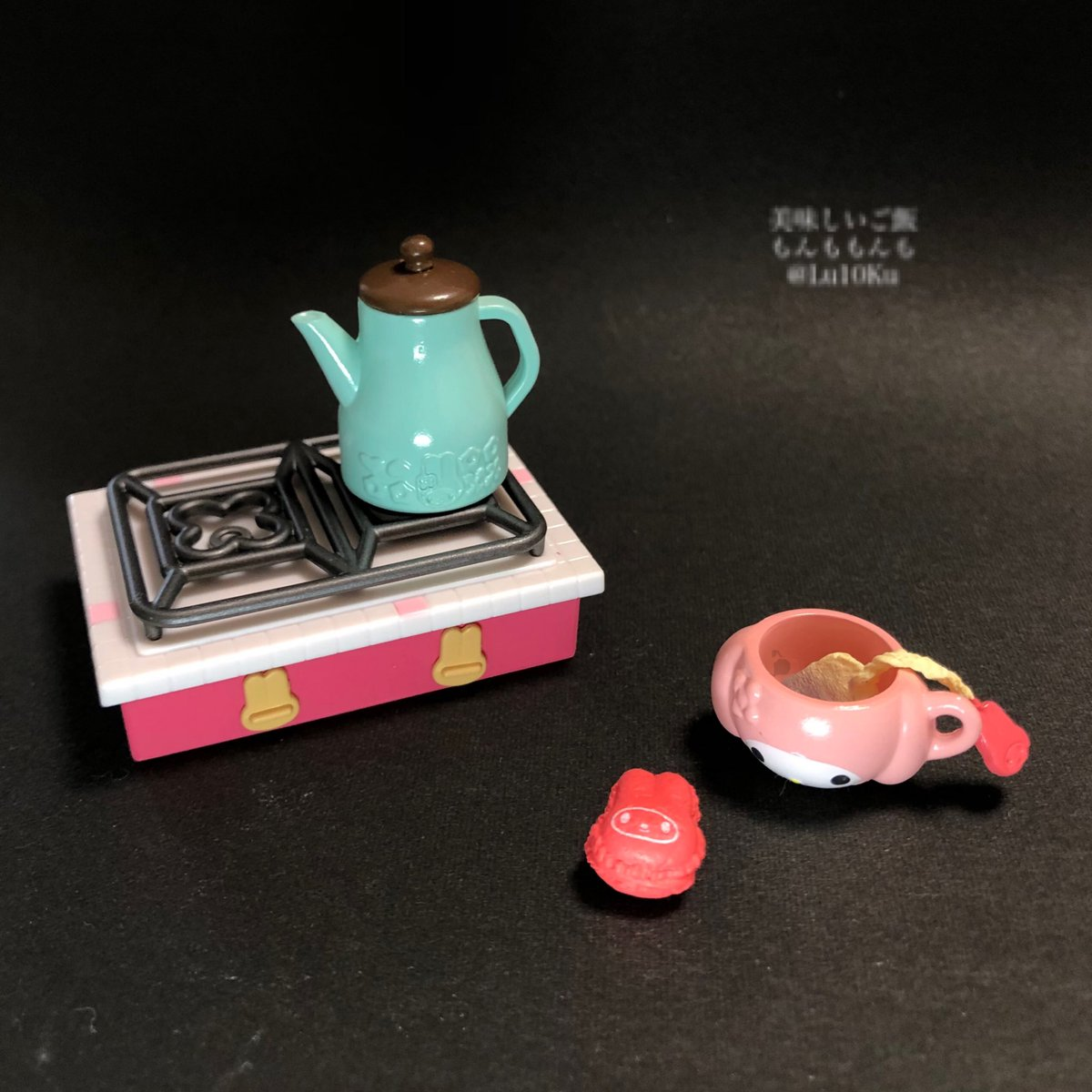 マイメロディ おもてなしキッチン 01 #リーメント #ぷちサンプル #ミニチュアフード #miniature https://t.co/2suHSasSxg