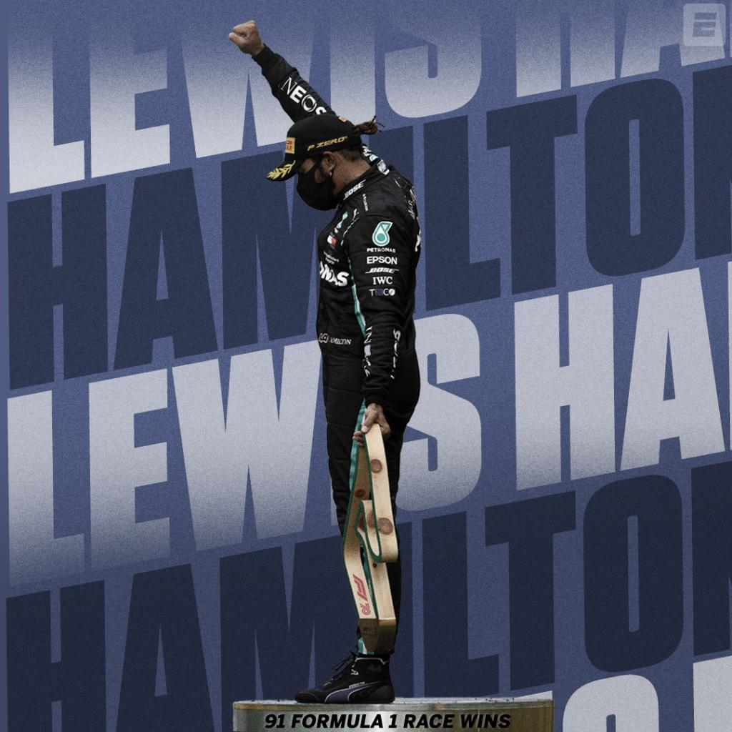 Lewis Hamilton has matched Michael Schumacher's all-time record of 91 Formula 1 race wins 🏆 https://t.co/kMNwFhlCh8