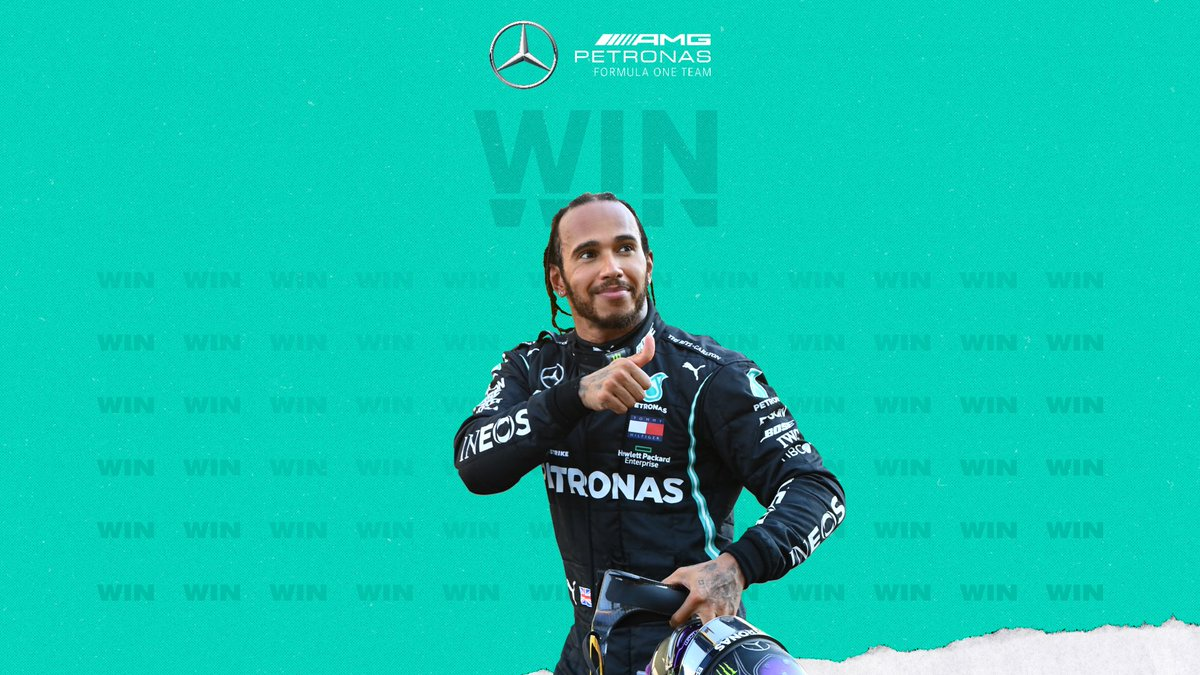 HISTORY 🙌 Lewis WINS his 91st Grand Prix at the Nürburgring and equals Michael @schumacher's record for most @F1 wins!!! 👏👏  #EifelGP https://t.co/cD3inZxtbG