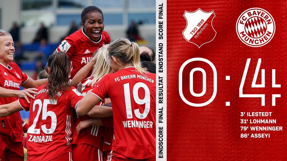 GANZ STARK‼️‼️‼️ #MiaSanMia  4⃣:0⃣-Sieg gegen die @FrauenTSG! #FCBayern #DieLiga https://t.co/eipUhTjDrX