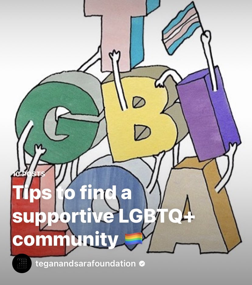 Happy #nationalcomingoutday! #ICYMI: To celebrate, we created guide on finding supportive, safe community spaces as an #LGBTQ+ person 🌈 Visit our Guides tab on Instagram to read! instagram.com/teganandsarafo…