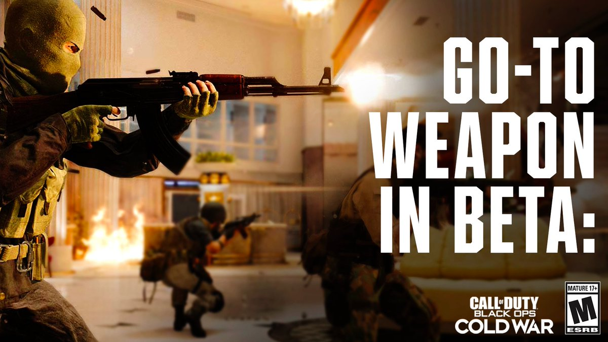 What's your go-to weapon in the #BlackOpsColdWar beta? https://t.co/O3rASPimx6