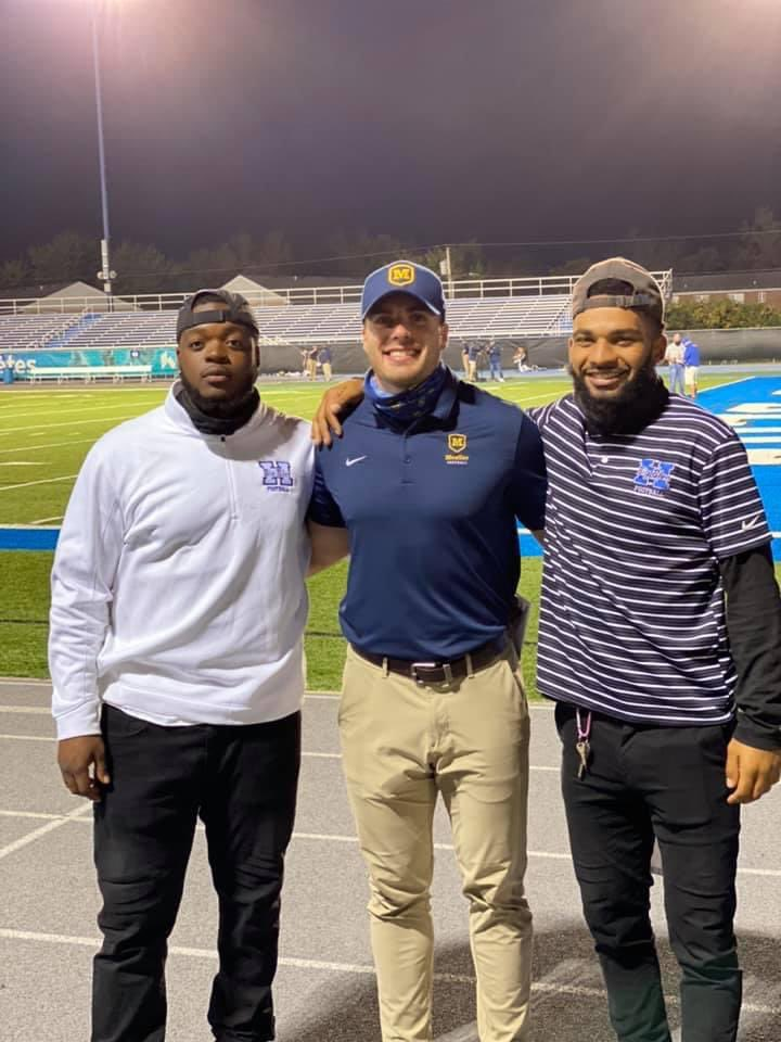 Came across this pic...almost text them Friday asking to get one. 3 former players responsible for things at NW that hadn't been done in 21, 22 years, now coaching. 😢PHENOMENAL young men...now passing on their love for the game & life. What it's ALL about! Love ya fellas!!🙏🏼🏈💪🏻 https://t.co/IO94pAeAPT