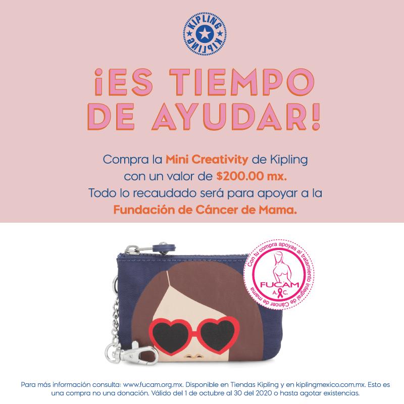 💓 ¡Comprando la Mini Creativity de @kiplingmexico estarás apoyando a @FUCAMM! Unidos podemos luchar contra el cáncer de mama.   #MesRosa 💓 https://t.co/hS6kIe1oKw