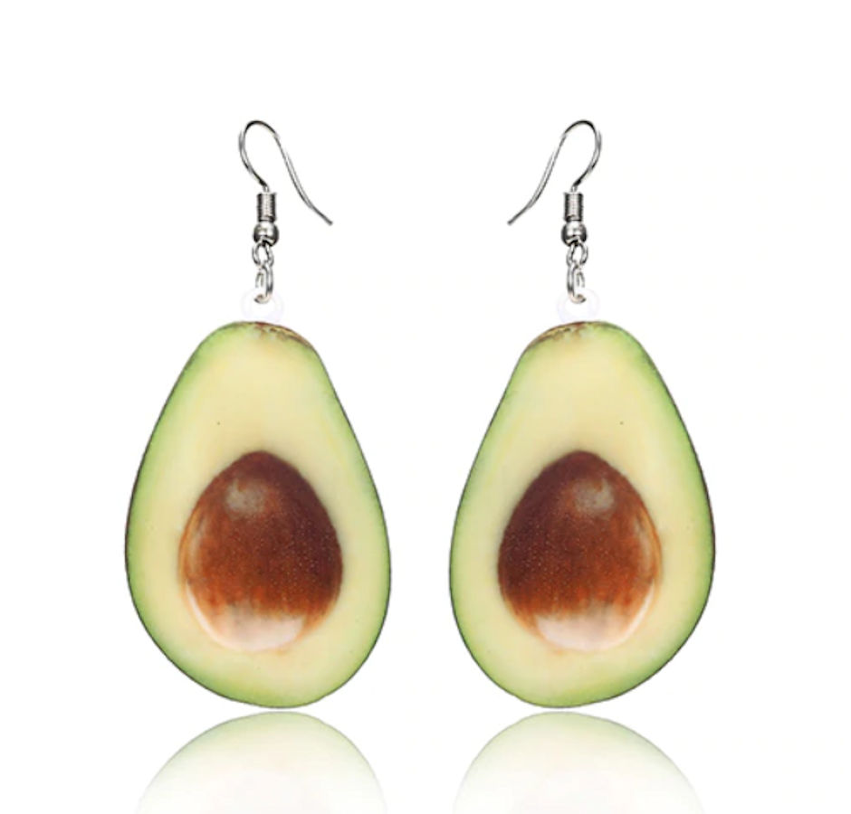 Avocado earrings #charm #beads #gift #gifts #christmas  #gift #gifts #ring #pendant #fashon #necklace #earrings