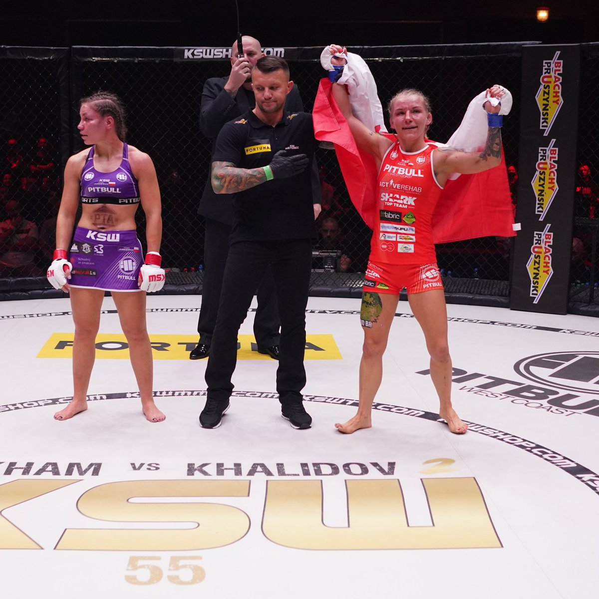 Did you enjoy #KSW55 last night⁉️  How it started       How it finished https://t.co/x18m2GyMYO