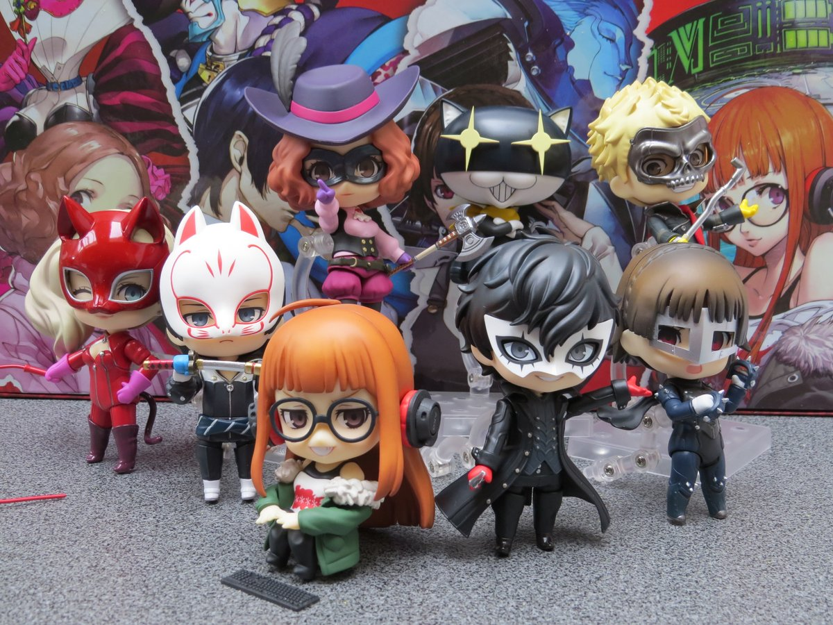 It's the Phantom Thieves! Ready to steal your heart!  #persona5 #persona5royal #atlus #nendoroids #nendoroid #goodsmilecompany #phantomthieves https://t.co/Kh4V6XlQmM