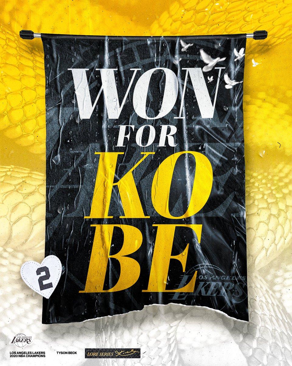 Replying to @tysonbeckdesign: Won for Kobe 💜💛