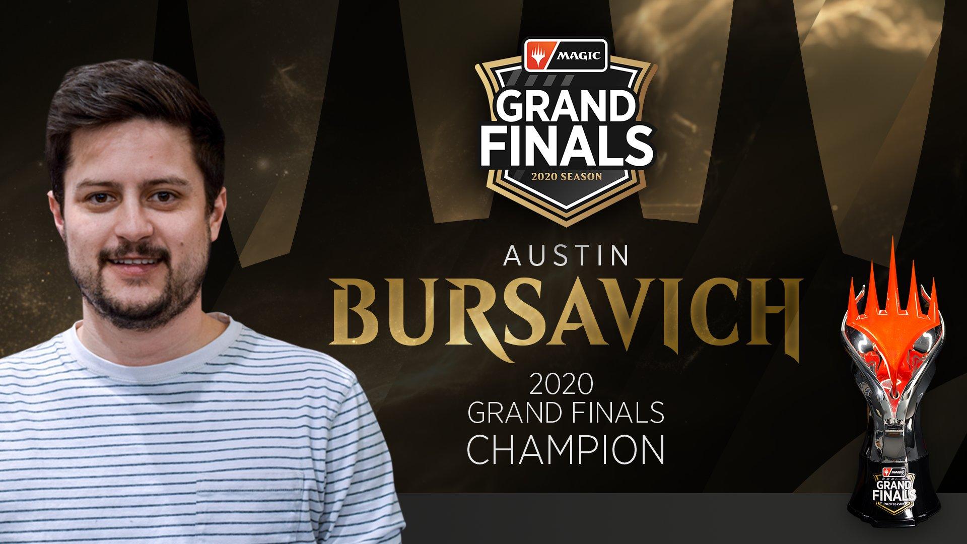 Austin Bursavich Campeão Grand Finals