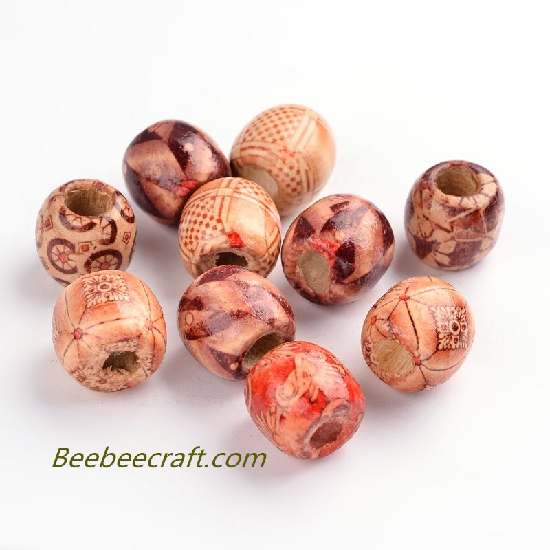 16x7mm Printed #WoodBeads Wooden Loose Spacer Beads for #JewelryMaking #DIY Handmade Craft  https://t.co/75KSEXqmSV https://t.co/gF0Po8yfF2