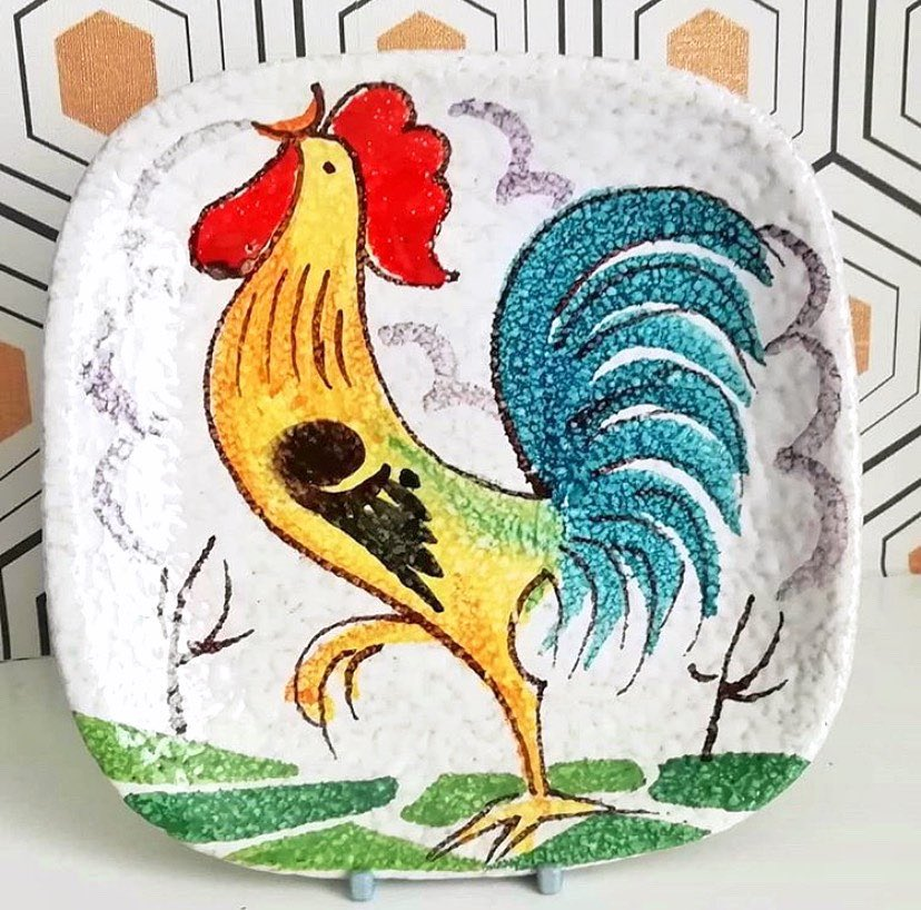 Excited to share this item from my #etsy shop: Chicken Rooster Decorative Plate #decorativeplate #christmas https://t.co/F200d9sWDj #etsyuk #etsyshop https://t.co/rPPjANM0vZ