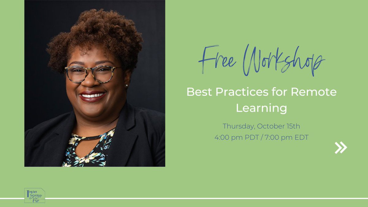 ✨30 minutes = Actionable #remotelearning tips you can use right now✨ Join @knikole in her free workshop and get ready to save time and thrive in your remote classroom! Save your seat here ➡️ https://t.co/sppWz0GBGt #teachingonline #onlinelearning #edtechteam https://t.co/cJ0wnzKGTD