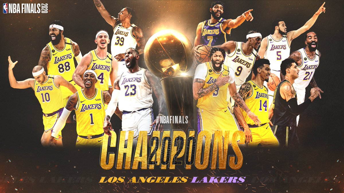 One week ago today, the LA Lakers became the 2020 NBA Champions 🏆 https://t.co/cPcwB781FV