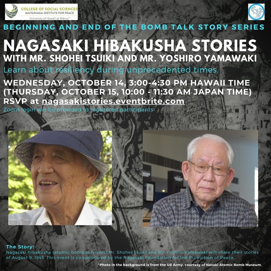 "Image for the Tweet beginning: ""Nagasaki Hibakusha Stories with Mr."