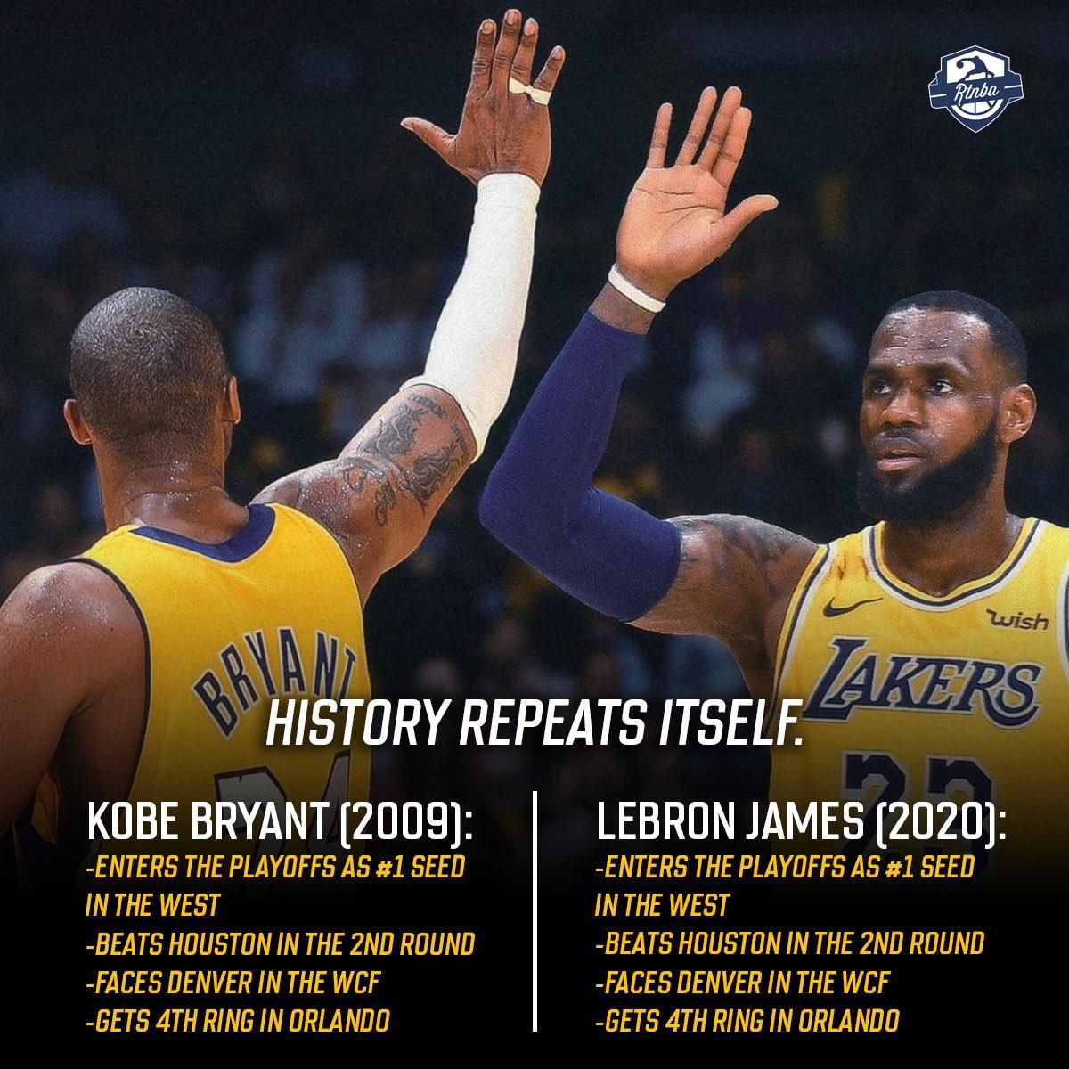 Kobe x LeBron James.  Ran it back. 🏆 https://t.co/GBTxPruPwA