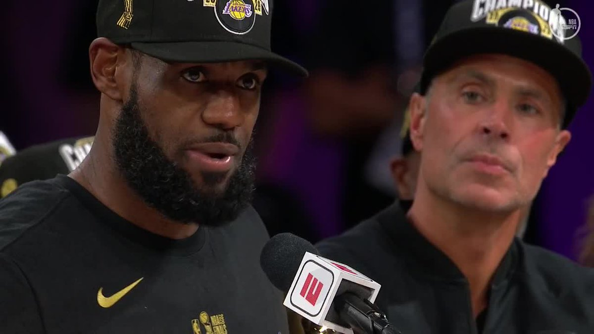"Replying to @NBATV: ""And I want my damn respect too.""  @KingJames on winning the 2019-20 Finals MVP. #NBAFinals"
