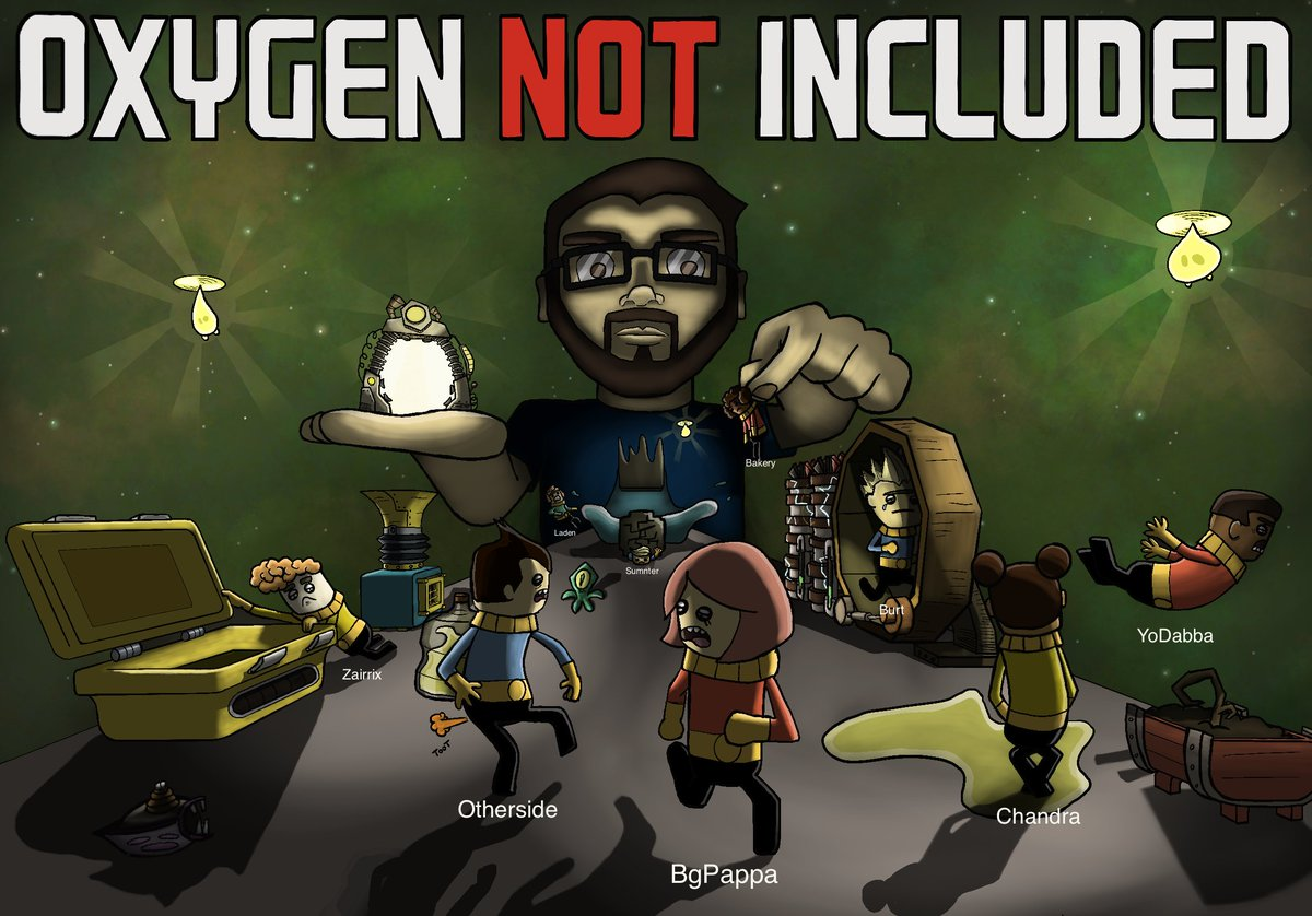 Holy shit, this Oxygen Not Included fan art is incredible. My stream folks are too kind.