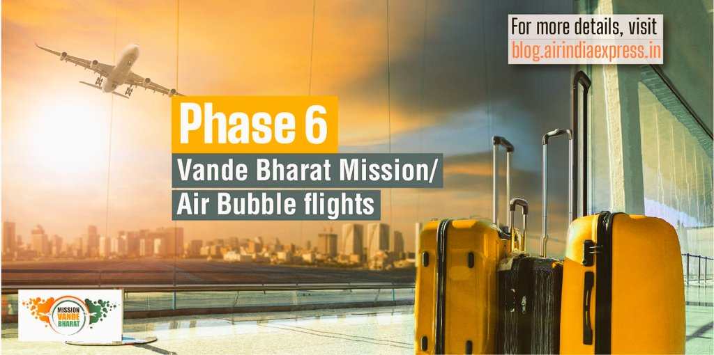 #FlyWithIX: The flight schedule of  phase 6/ October 2020 schedule of  #VandeBharathMission/Air Bubble flights are available in this link:  https://t.co/YfcjitNzhA https://t.co/bvuJWLEzrP