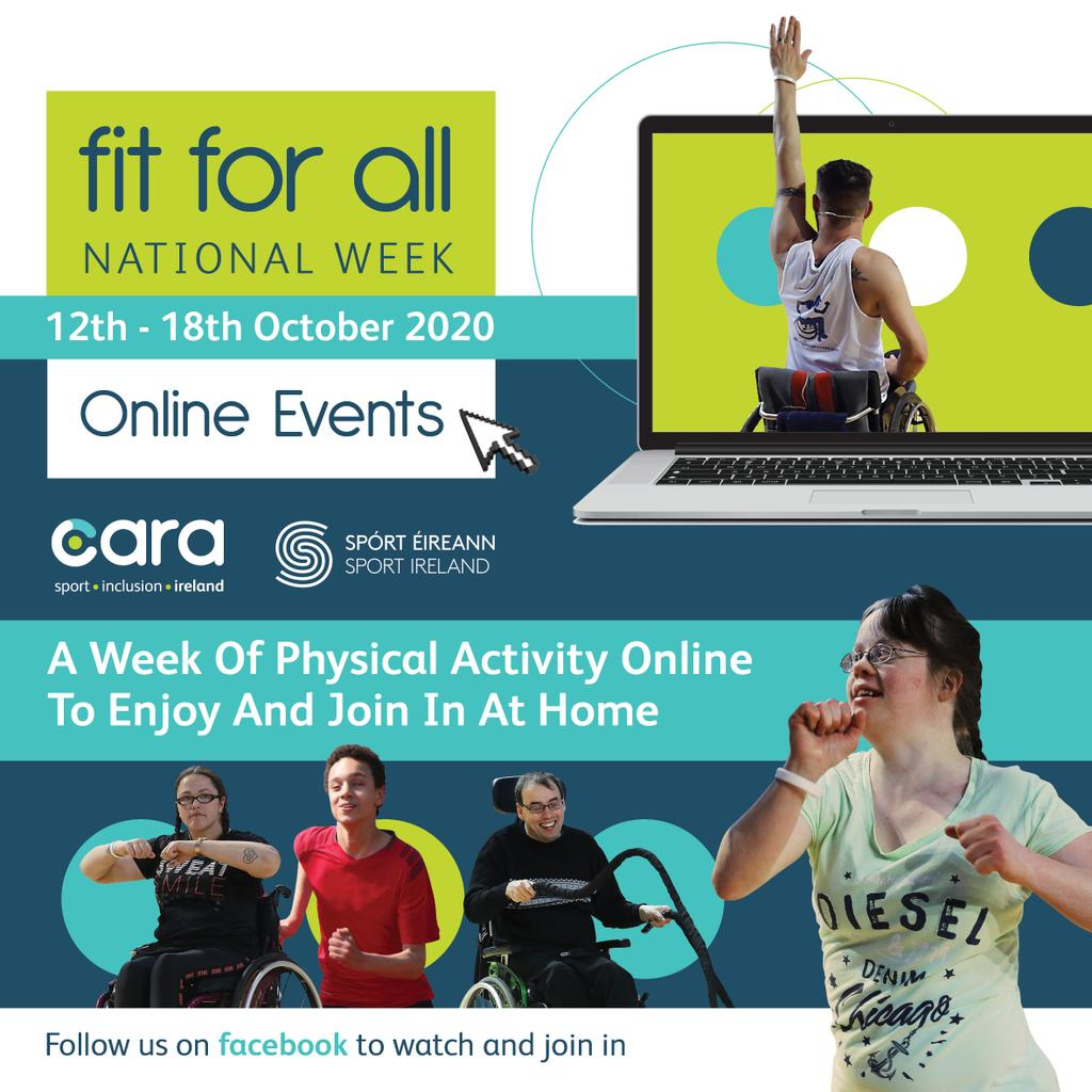 💥 National Fit For All Week 2020 💥  Fit For All Weekaims to increase awareness of opportunities for people with disabilities in their local leisure centres and community facilities 🏋️♀️🏃♂️🤸♀️🤹♂️  ℹ https://t.co/cc4Ai8e09B  #KeepCorkActive #CorkSportsAbility  #FitForAll https://t.co/3TqnBDIvsA