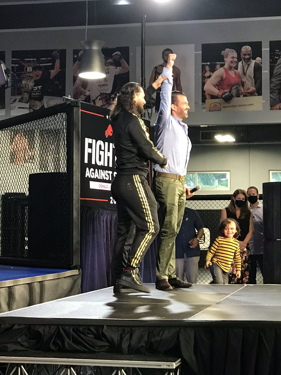 Great speech last night by @GamebredFighter and @realDonaldTrump on Fighters Against Socialism. https://t.co/sy2fng4ZBu