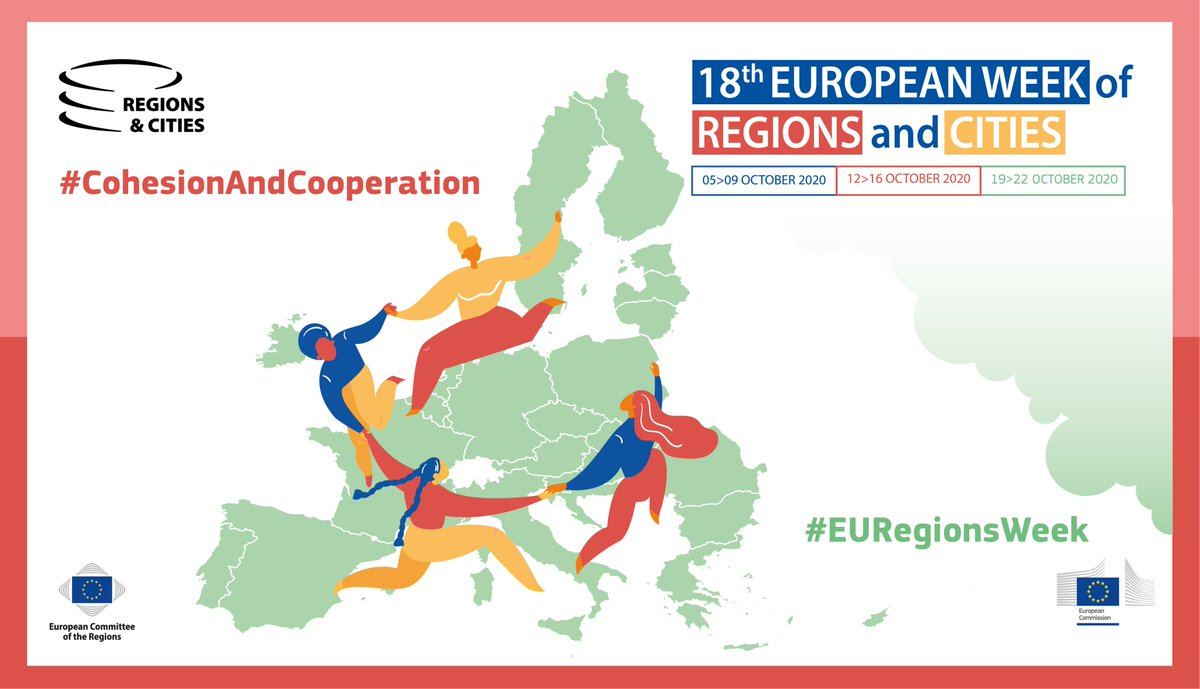 Today, the week on #CohesionAndCooperation officially starts at the first-ever digital #EURegionsWeek!  Join us online and let's celebrate regional goals together 🎉  Discover our live sessions here ➡ https://t.co/lRxYHNTftl   #CooperationMatters https://t.co/z9XvPwvXt3