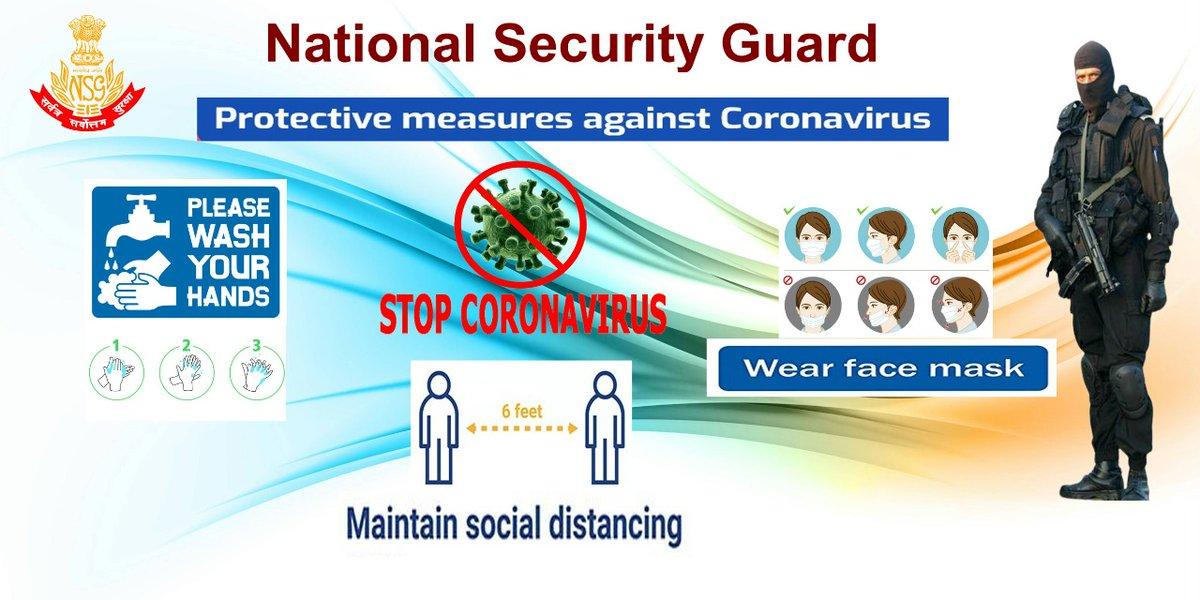 NSG taking CORONA Pledge #Unite2FightCorona 1. Maintain Social distancing 2. Wash Your Hand Regularly 3. Wear Face Mask