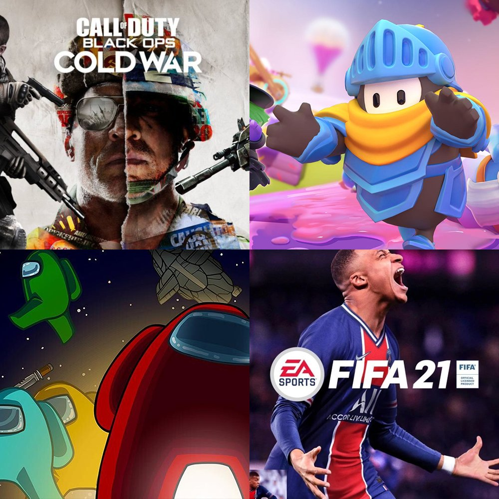 Have you had time to try the new Call of Duty or Fifa this weekend?  Or have you had your hands full with the new season of Fall Guys or  have you been plotting against your friends in Among us?  😏  #Fallguys #Amongus #blackops #fifa21 #xgamer https://t.co/9xlSkGupa6