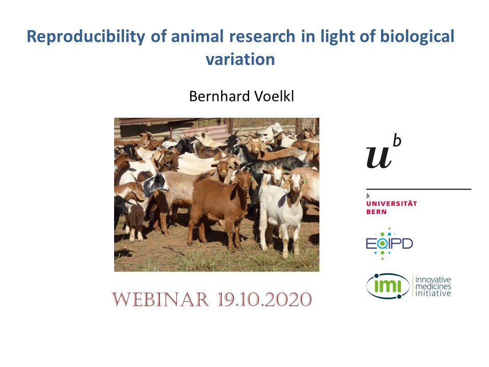 In our next webinar, Bernhard Voelkl will outline how we can improve reproducibility in animal research through heterogenization of study populations.  More information about Bernhard's research can be found here: https://t.co/Ftks5atHQl  Date: October 19th Time: 8 pm CET https://t.co/wIlubLEiLe https://t.co/xgl5SvdJ8L