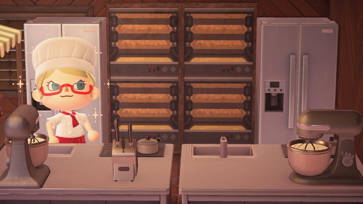 隔日マイデザー!本日は食欲の秋!バウムクーヘン焼き機を作りました!軸を回転させながらつけて焼くタイプです!パティスリーやベーカリーにどうぞ! #どうぶつの森 #あつ森 #AnimalCrossing #ACNH #NintendoSwitch #マイデザイン