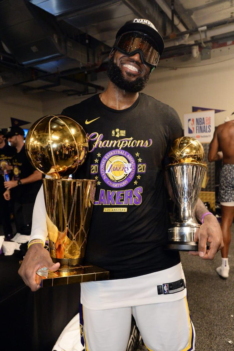 Congratulations LeBron James on winning your 4th @NBA title! Being chosen the MVP in the Finals for each of these titles is an incredible achievement and a testament to your hard work and perseverance. Keep Inspiring!